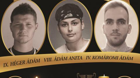 VIII. Ádám Anita, IX. Héger Ádám és IV. Komáromi Ádám Emléktorna