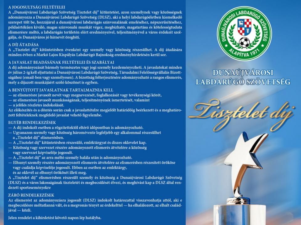 DLSZ Tisztelet díj