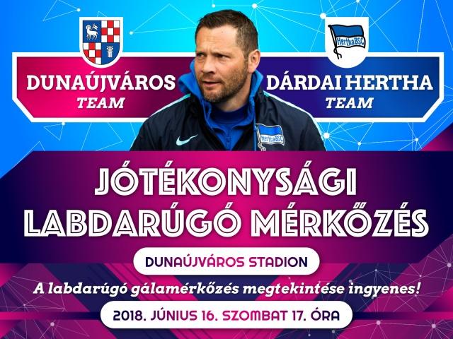 Dunaújváros Team vs Dárdai Hertha Team Jótékonysági Labdarúgó Gála