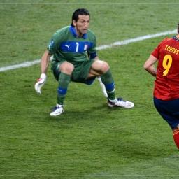 Labdarúgó Európa Bajnokság 2012 Buffon és Torres