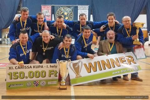 Döcös csapa Carissa Kupa I. hely 2013