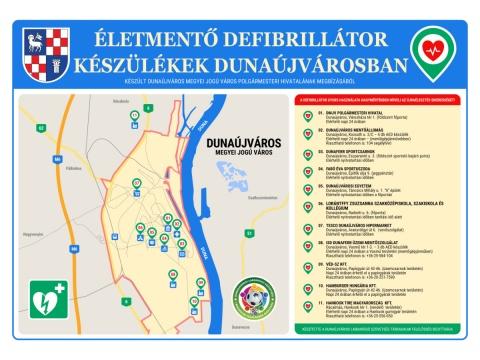 Életmentő defibrillátor készülékek Dunaújvárosban