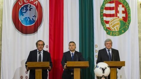 Platini, Orbán, Csányi - MLSZ