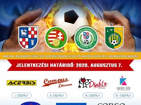 Jelentkezés a Markó Lajos Városi Kispályás Labdarúgó Bajnokságára 2020/2021 év