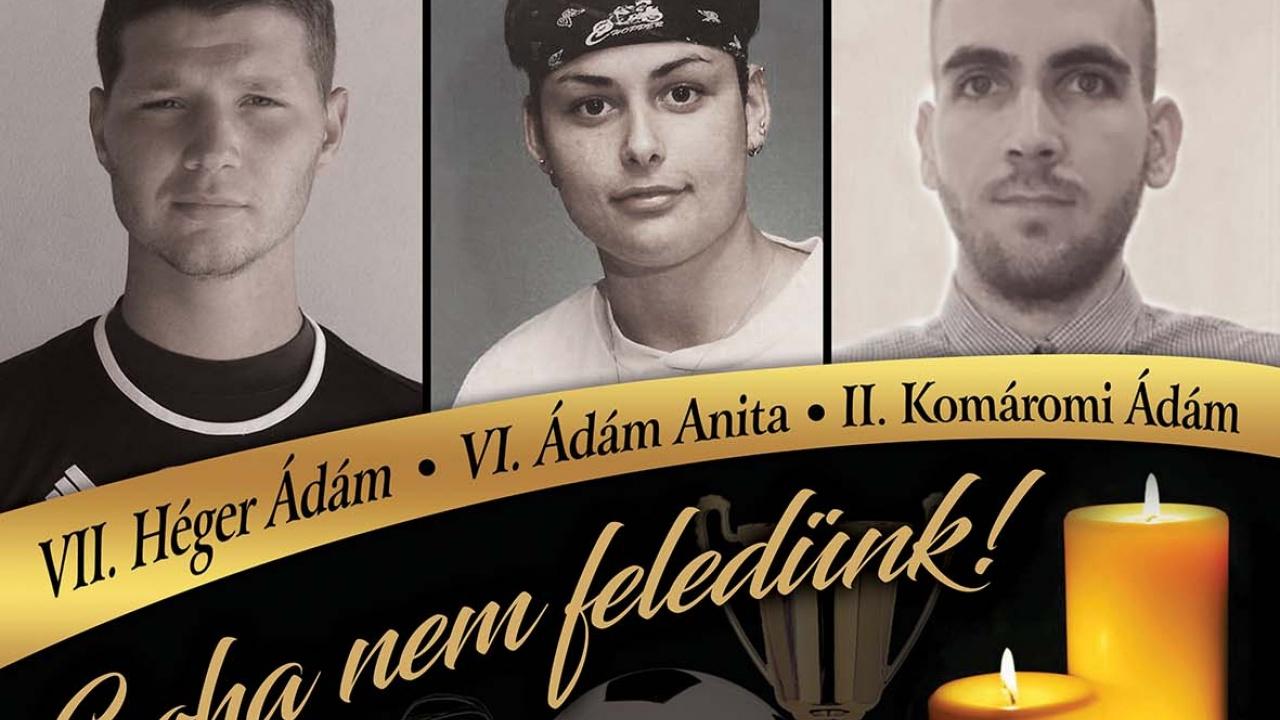 VI. Ádám Anita, VII. Héger Ádám és II. Komáromi Ádám Emléktorna
